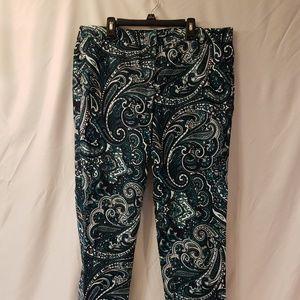 Michael Kors Womens Paisley Pants size 10
